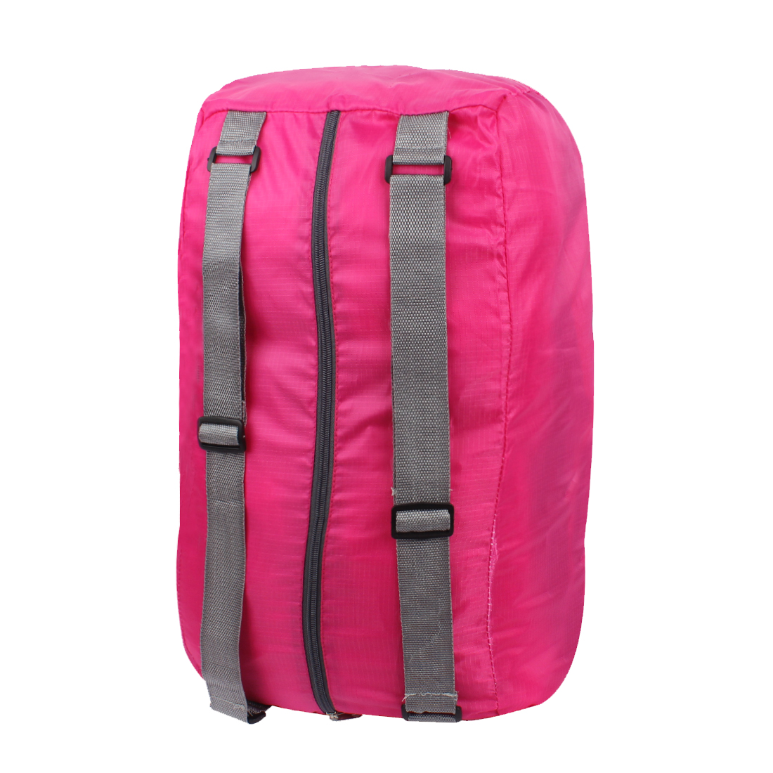 Fuchsia Water Resistant Folding Camping Hiking Bag Shoulder Cross Storage Handbag Backpack
