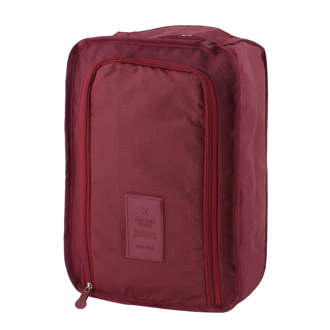 Burgundy Portable Water Resistant Shoes Storage Folding Pouch Bag Case Organizer Keeper