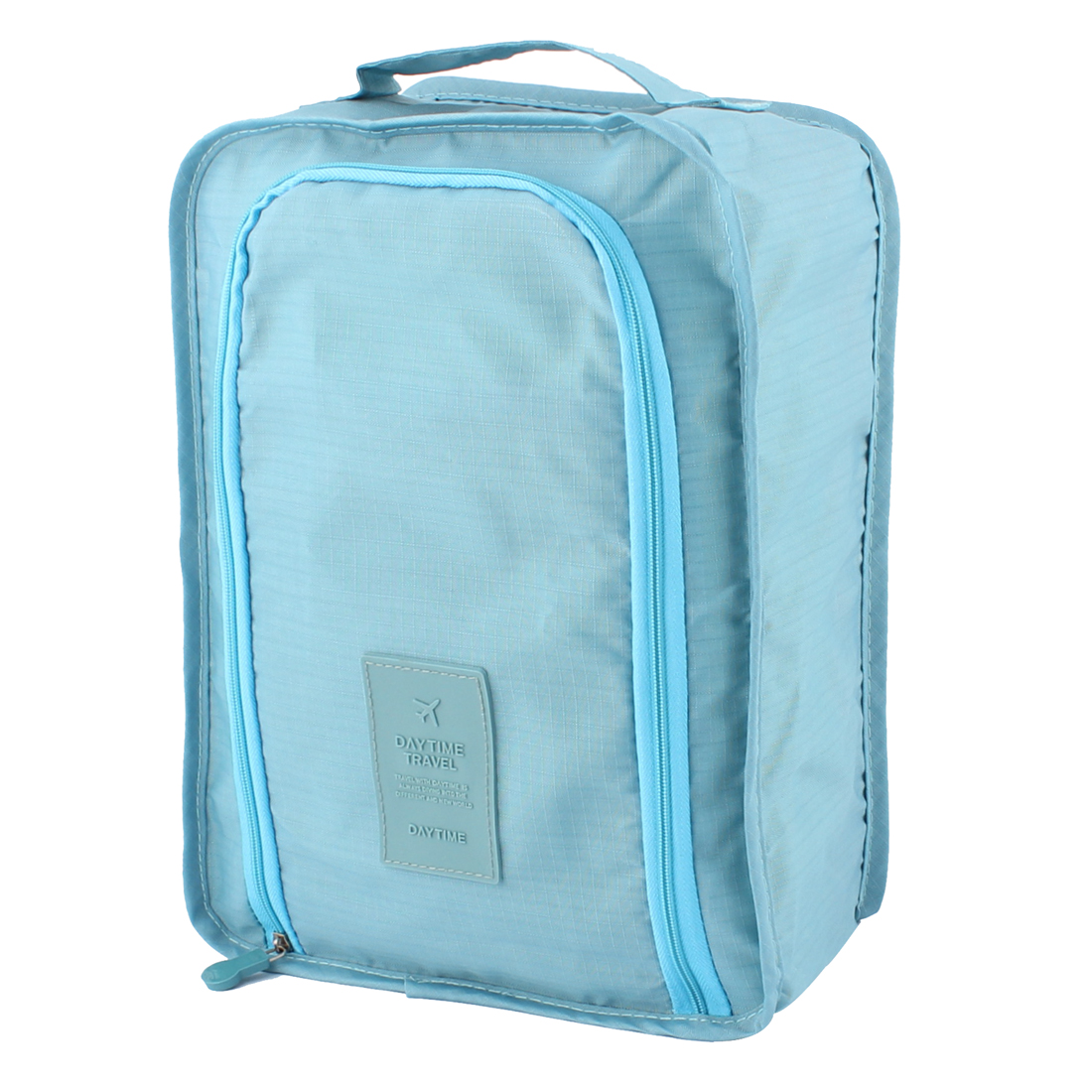Teal Blue Portable Water Resistant Shoes Storage Folding Pouch Bag Case Organizer Keeper