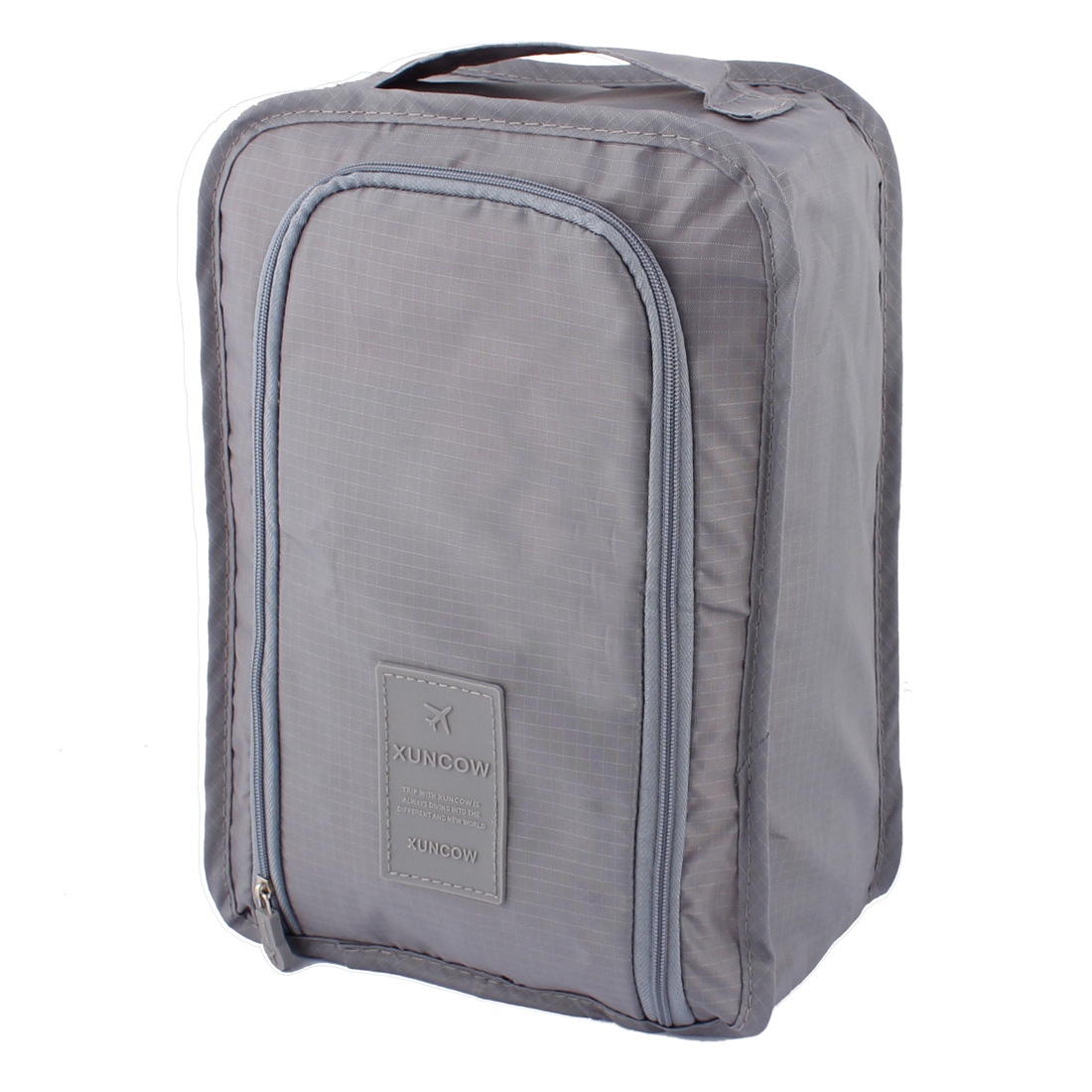 Gray Portable Water Resistant Shoes Storage Folding Pouch Bag Case Organizer Keeper
