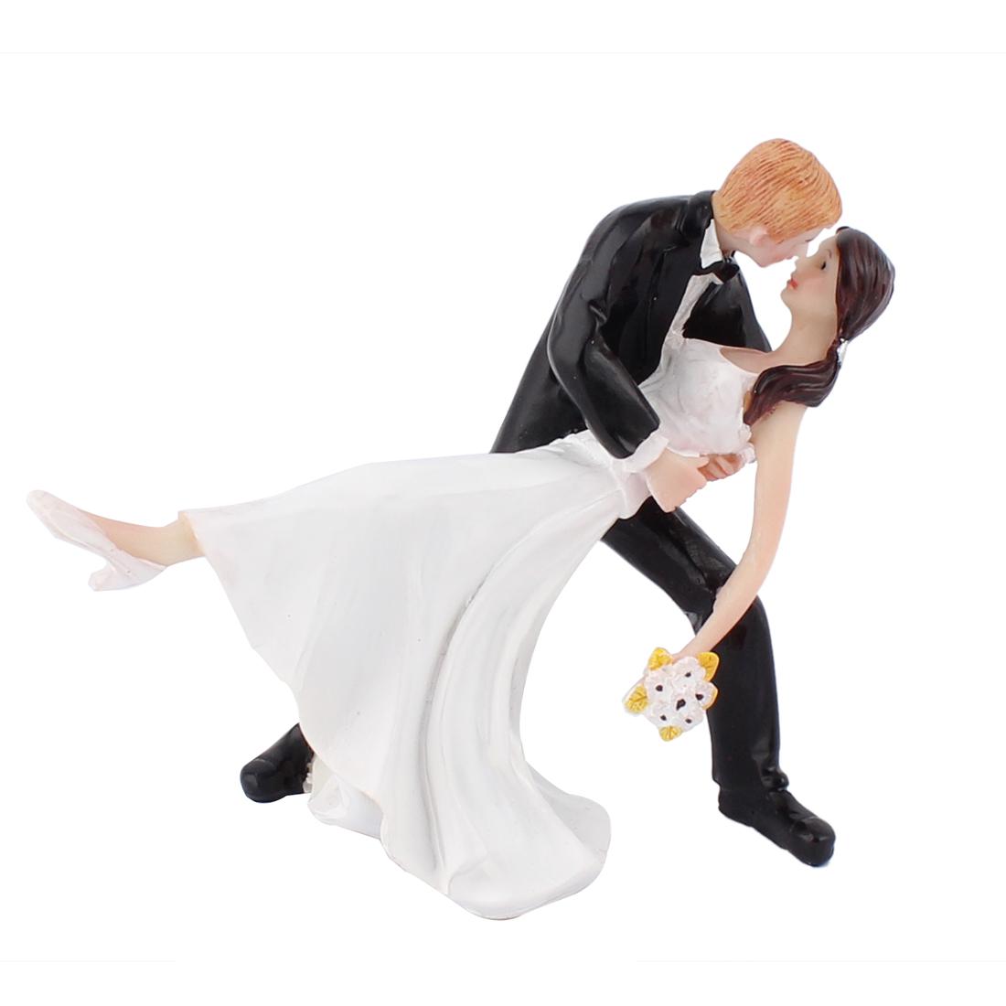 Bride Groom Couple Dancing Dip Hug Figurine Wedding Cake Topper Decoration Gift