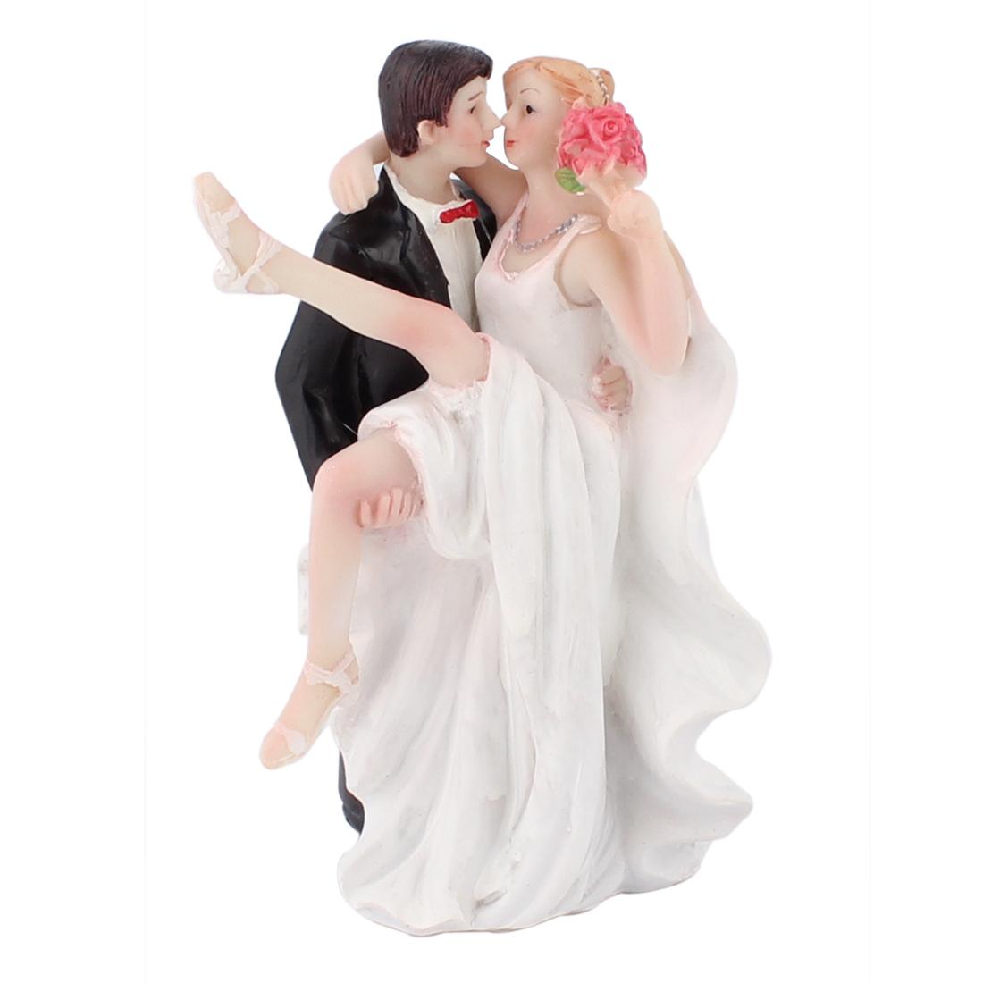 Bride Groom Couple Hug Kiss Figurine Wedding Cake Topper Decoration Gift Favor