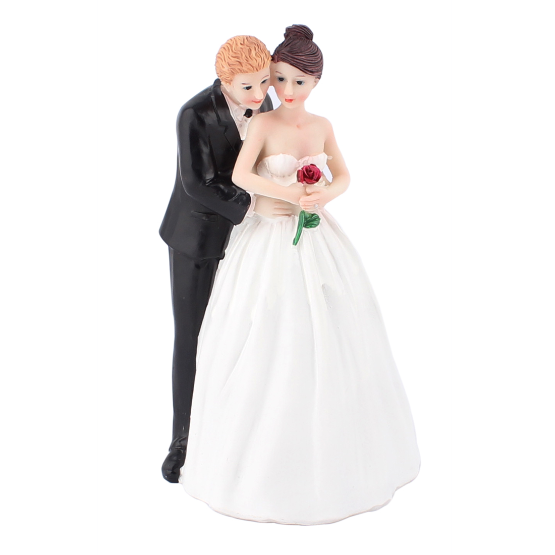 Custom Hug Bride Groom Couple Figurine Wedding Cake Topper Decoration Gift Favor