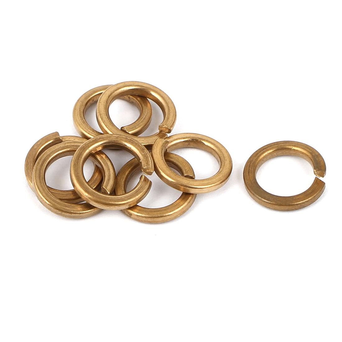 M8 Copper Split Lock Sealing Ring Spring Washer Fastener 8pcs