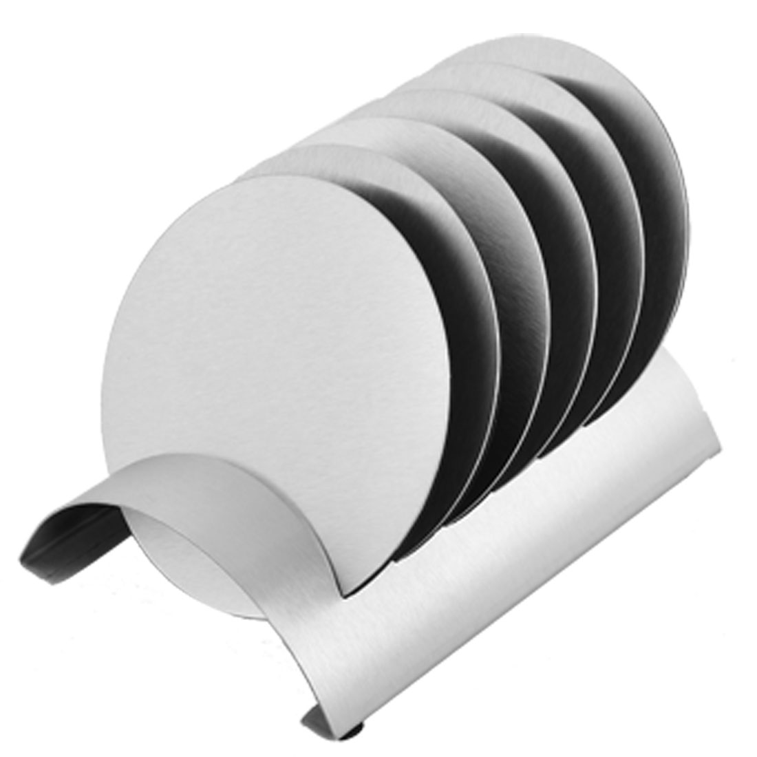Stainless Steel Round Shaped Heat Resistant Cup Mat Coaster Holder Set 7 in 1