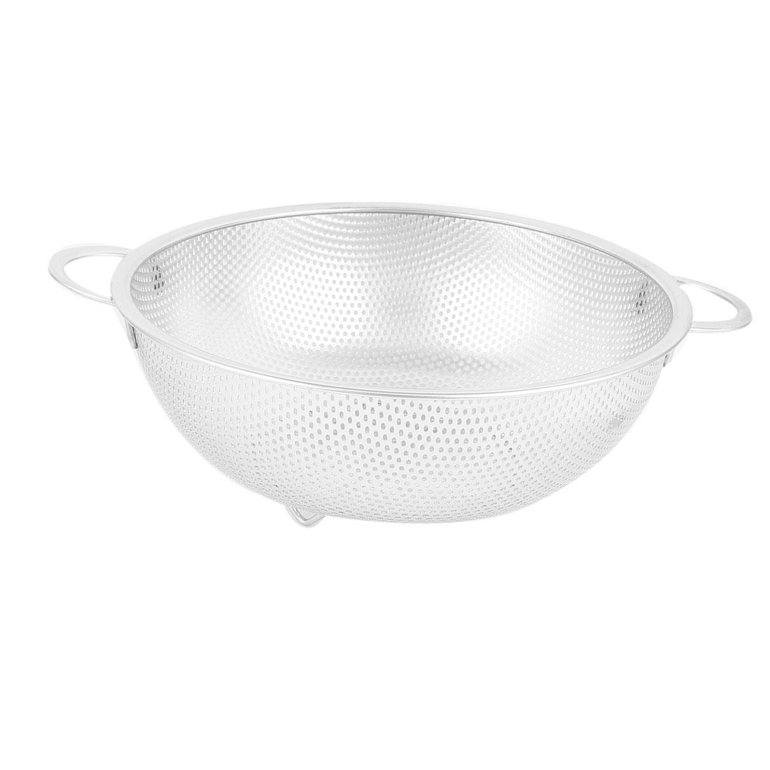 Kitchen Rice Vegetable Wash Metal Mesh Drainer Strainer Basket Colander 28.5cm