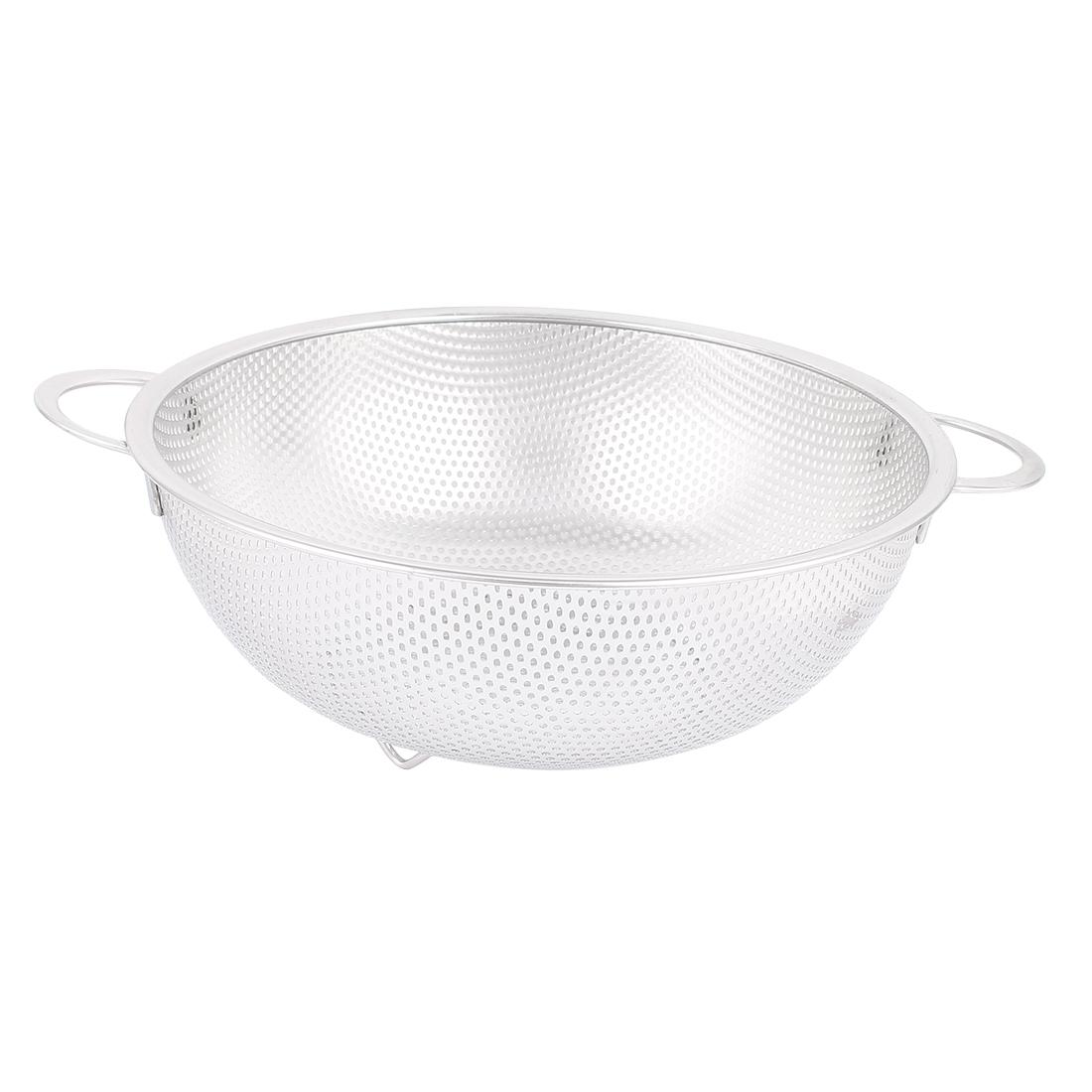 Kitchen Fruit Rice Vegetable Washing Metal Mesh Drainer Strainer Colander 10''