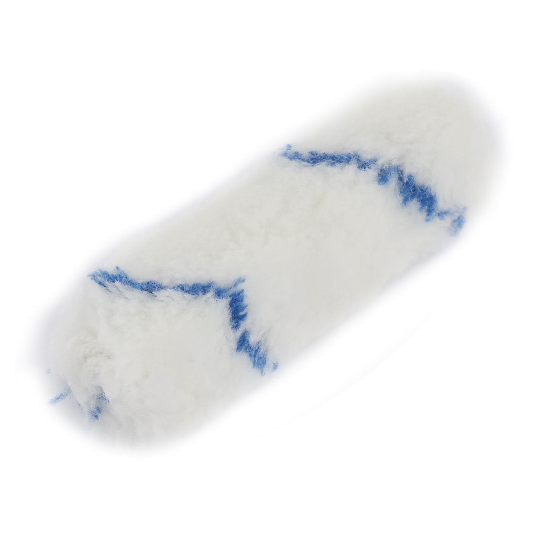 Home Floor Wall Painting Tool Plush Sleeve Brush Roller Cover White Blue