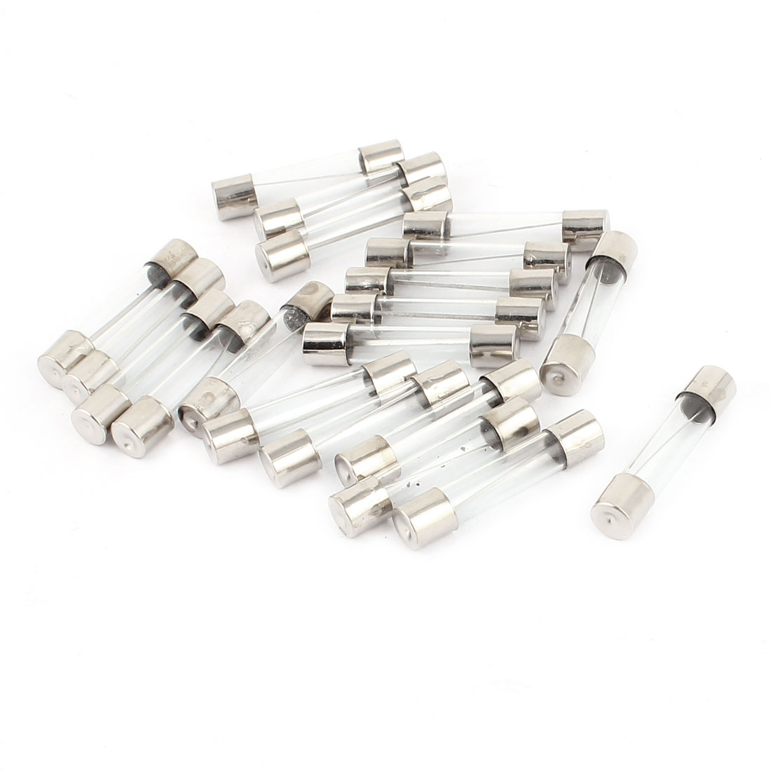 AC 250V 20A 6mm x 30mm Quick Acting Fast Blow Type Glass Tube Fuse 20pcs