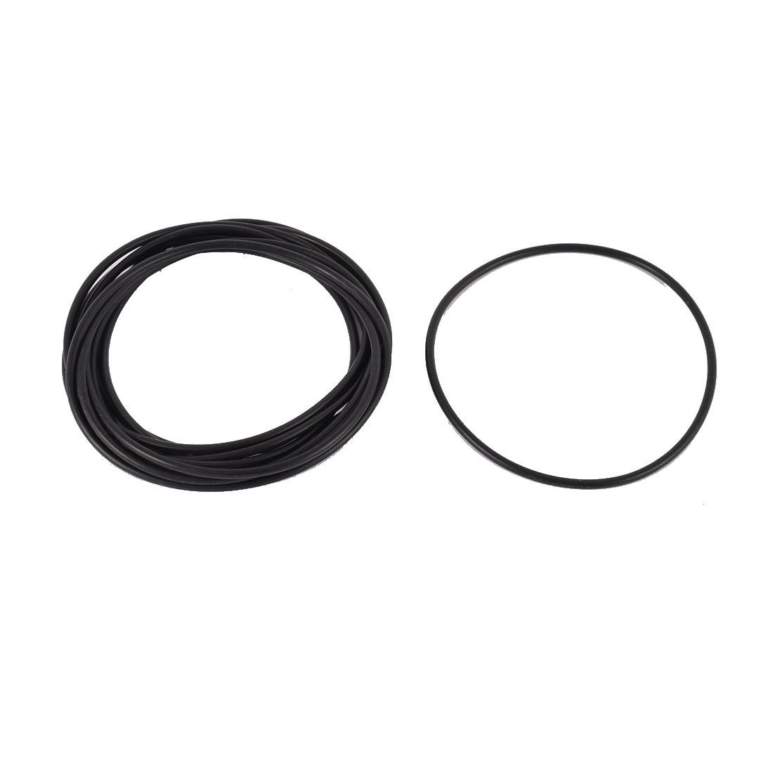 75mm x 2.5mm Rubber Sealing Oil Filter Flexible O Rings Gaskets Black 10 pcs