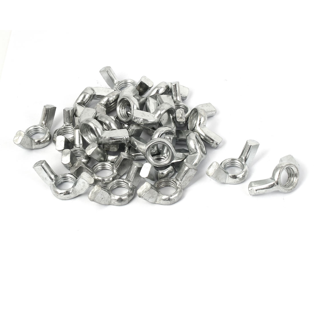 M12 Metal Coarse Female Thread Instal Tool Fastener Wing Nut 30pcs