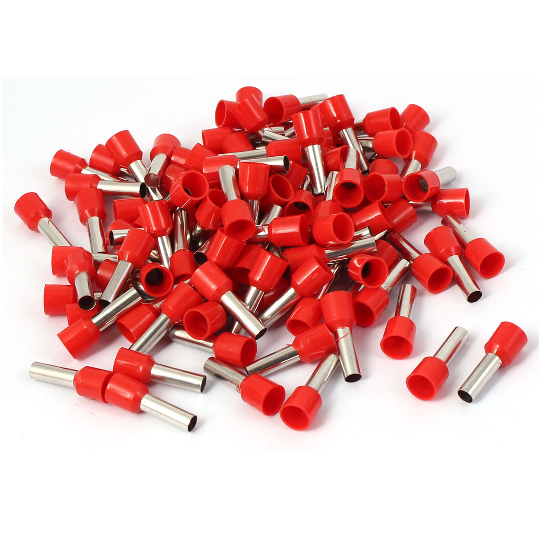 E6012 Tube Style Electric Wire Ends Sleeve Crimp Insulated Terminal 100pcs