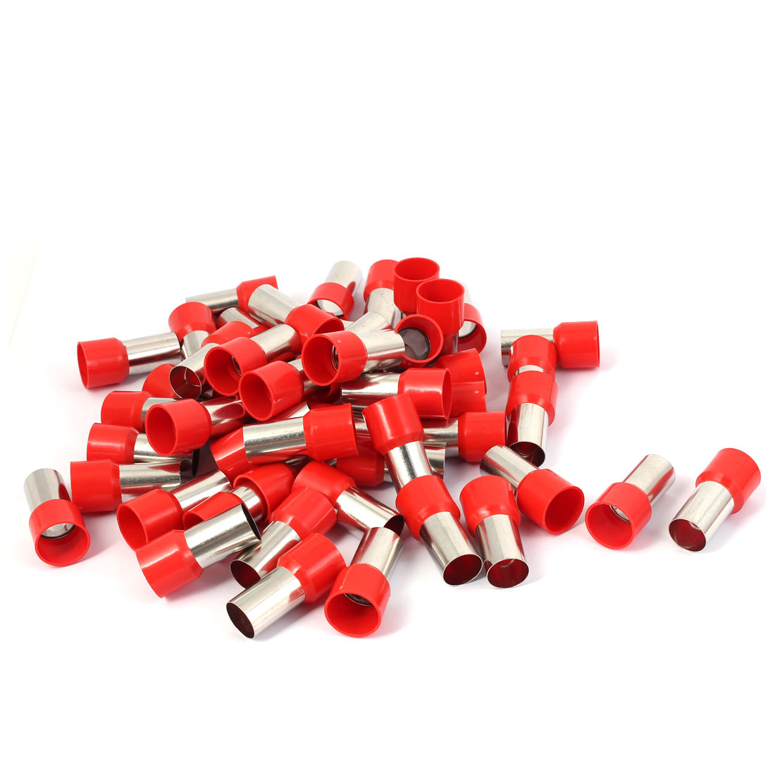E70-20 Tube Style Electric Cable Wire Ends Connector Insulated Terminal 50pcs