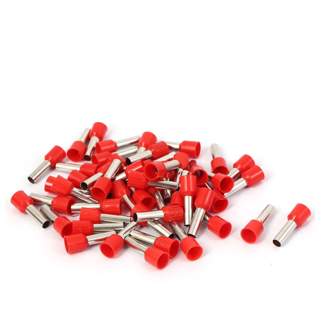 E6012 Tube Style Electric Wire Ends Sleeve Crimp Insulated Terminal 50pcs