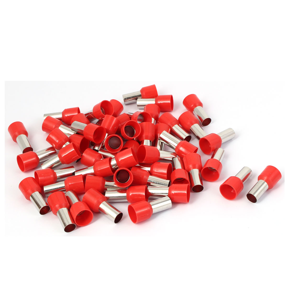 E35-16 Tube Shape Electric Cable Wire Heads Crimp Insulated Terminal 50pcs