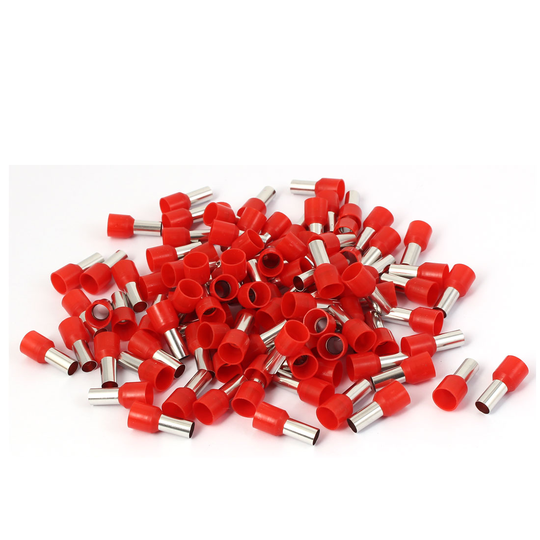 E16-12 Red Tube Design Electrical Cable Wire Crimp Insulated Terminal 100pcs