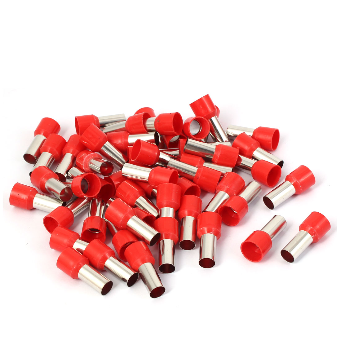 E25-16 Tube Style Electric Cable Wire Tips Crimp Insulated Terminal 50pcs