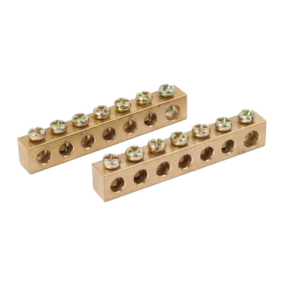 7 Holes Electrical Distribution Wire Screw Terminal Copper Neutral Bar 2pcs