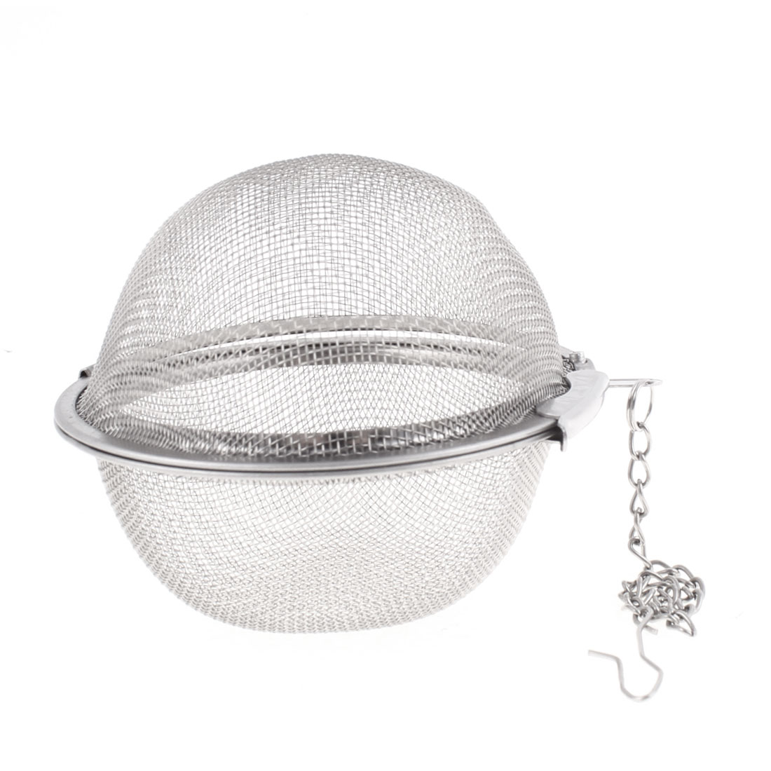 Home Teahouse Metal Sphere Mesh Design Infuser Filter Tea Strainer 7cm Dia