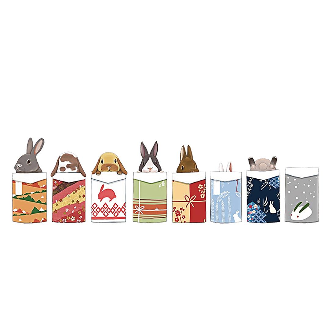 Bedroom Art Decor Rabbit Pattern Removable Wall Sticker Decal 50 x 70cm