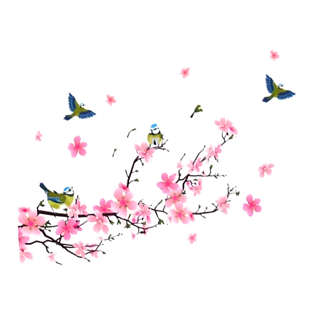 Room Art Decor Cherry Blossom Pattern Removable Wall Sticker Decal 50 x 70cm