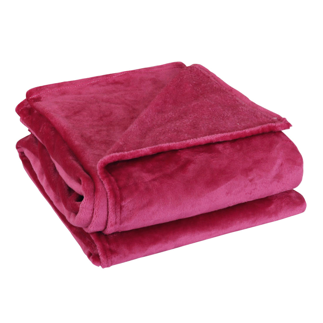 "Super Soft Warm Rug Luxury plush Fleece Throw Blanket, Suitable for Chair or Bed, Machine Washable,Burgundy, 180 x 230 cm (71"" x 78"")"