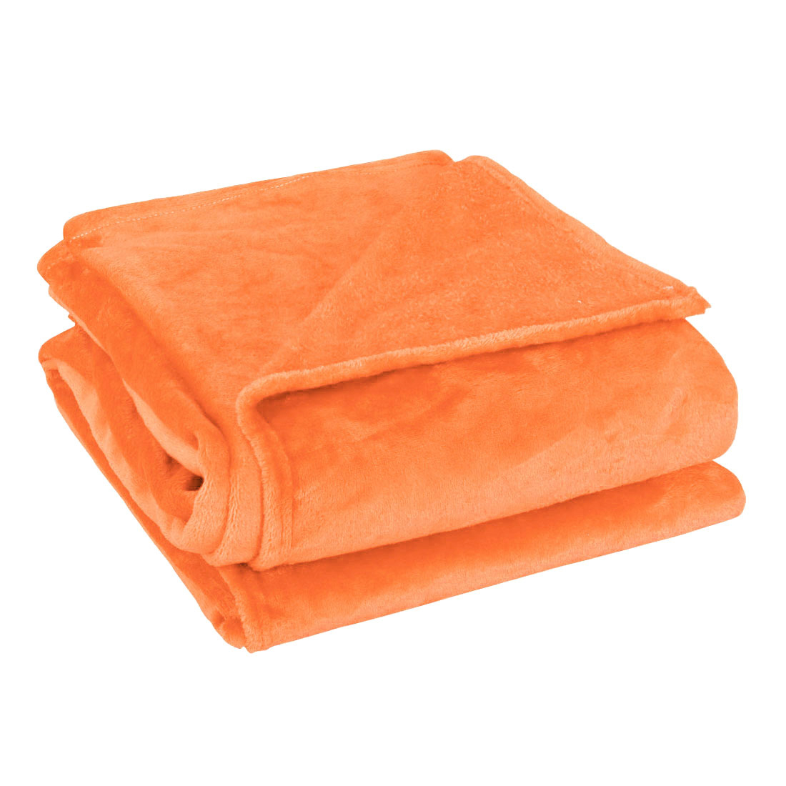 2 x 2.3M Queen Size Home Bedroom Bed Sofa Warm Plush Couch Throws Blanket Soft Orange