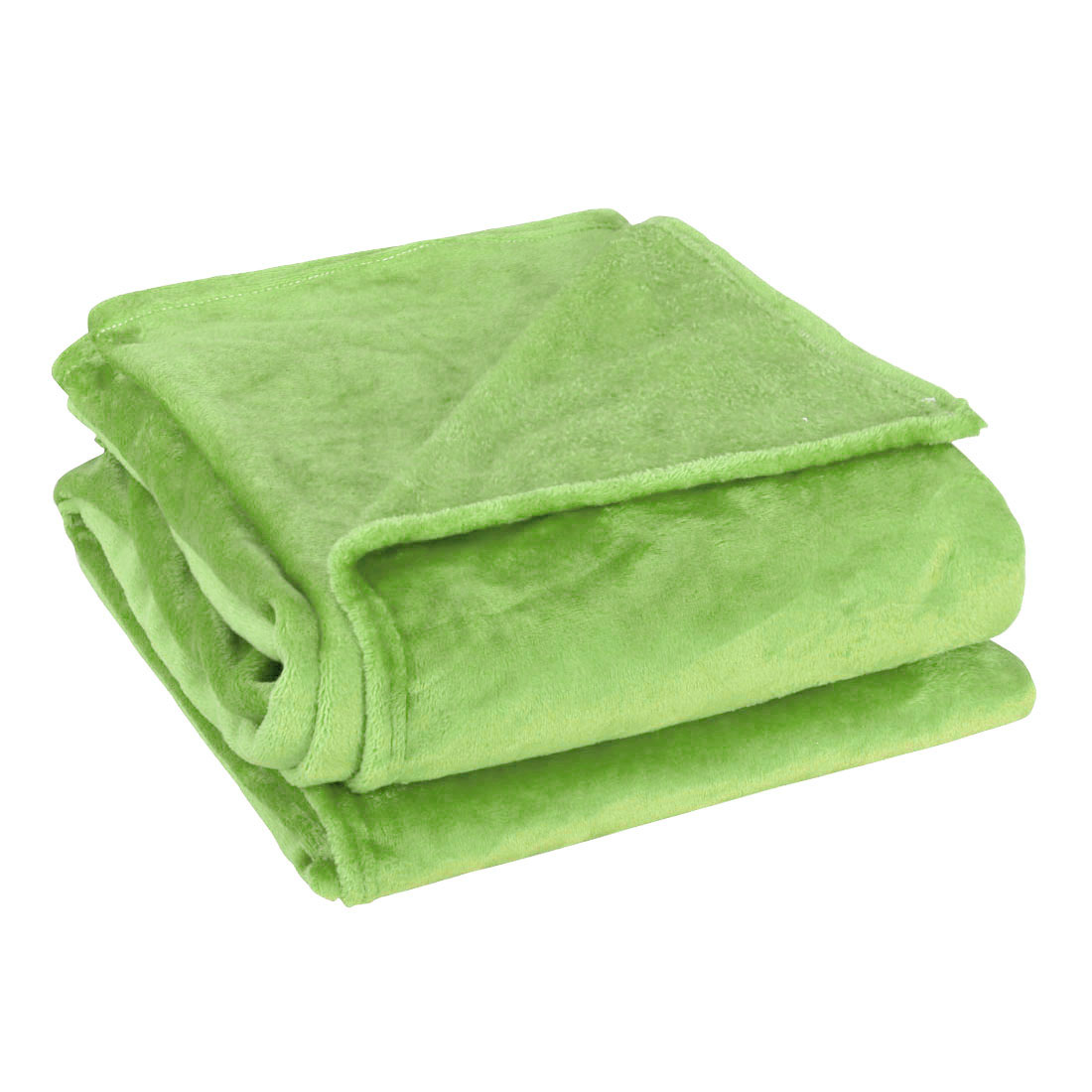 Full Size Home Bedroom Bed Sofa Warm Plush Fleece Couch Throws Blanket Soft Lime Green 180*200cm