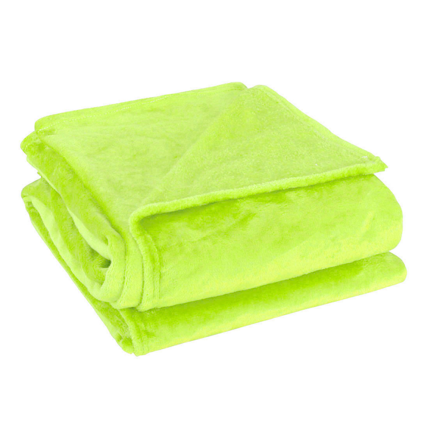 Super Soft Plush Fleece Sofa Bed Cover Warm Blanket Throw Lime Green King