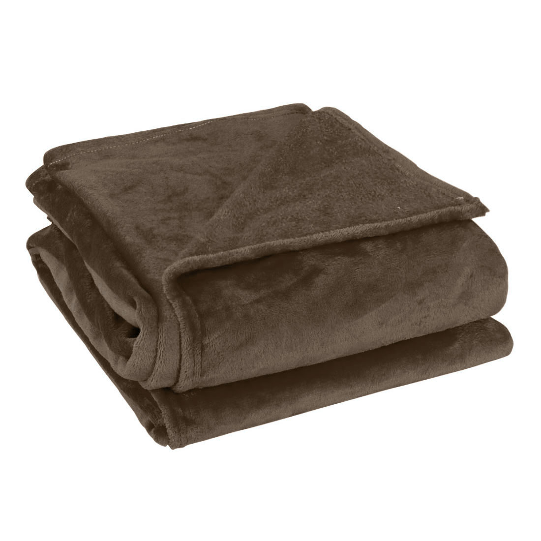 Twin Size Home Bedroom Bed Sofa Warm Plush Couch Throws Blanket Soft Chocolate Color 150 x 200cm
