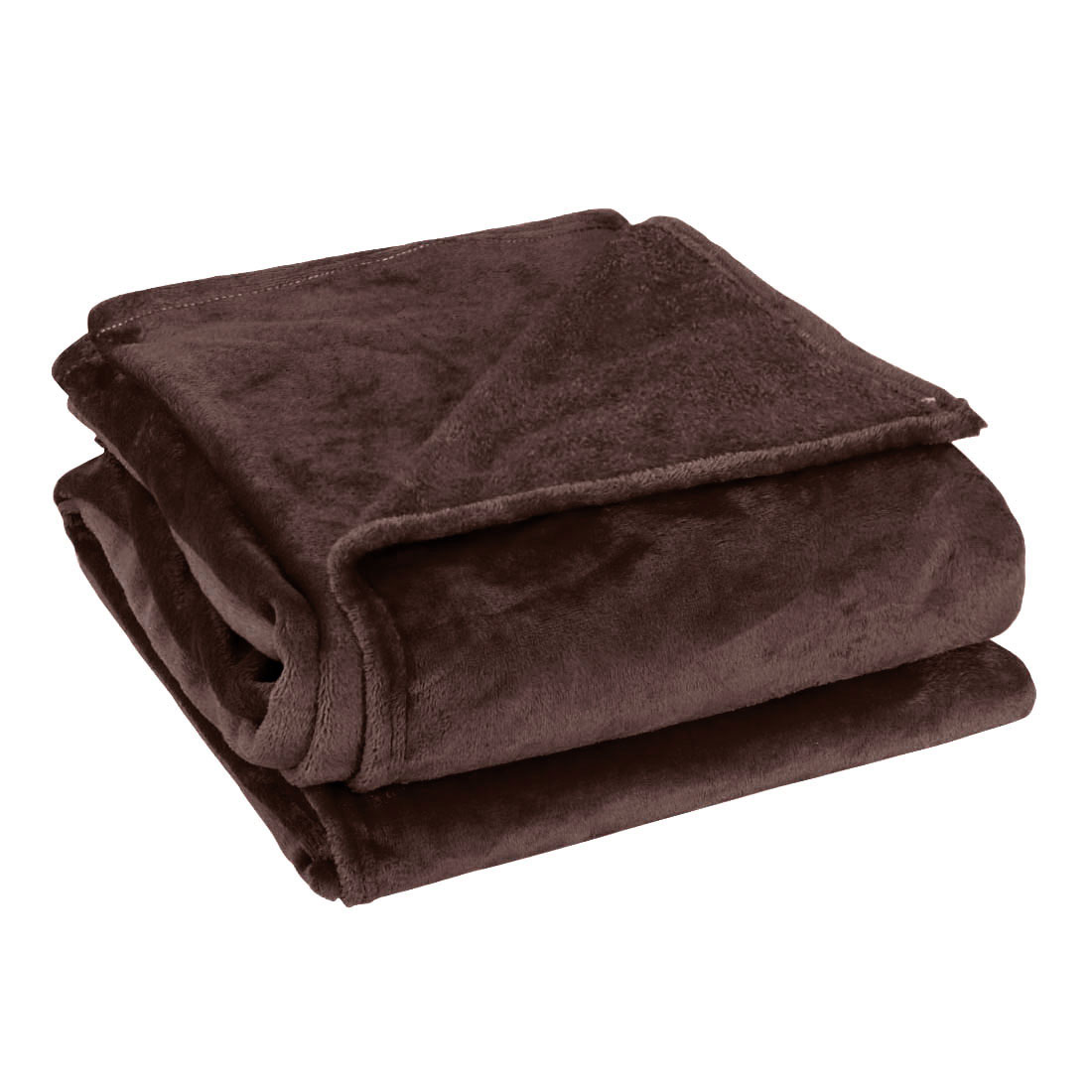 Queen Size Home Bedroom Bed Sofa Warm Plush Couch Throws Blanket Soft Chocolate Color 200 x 230cm