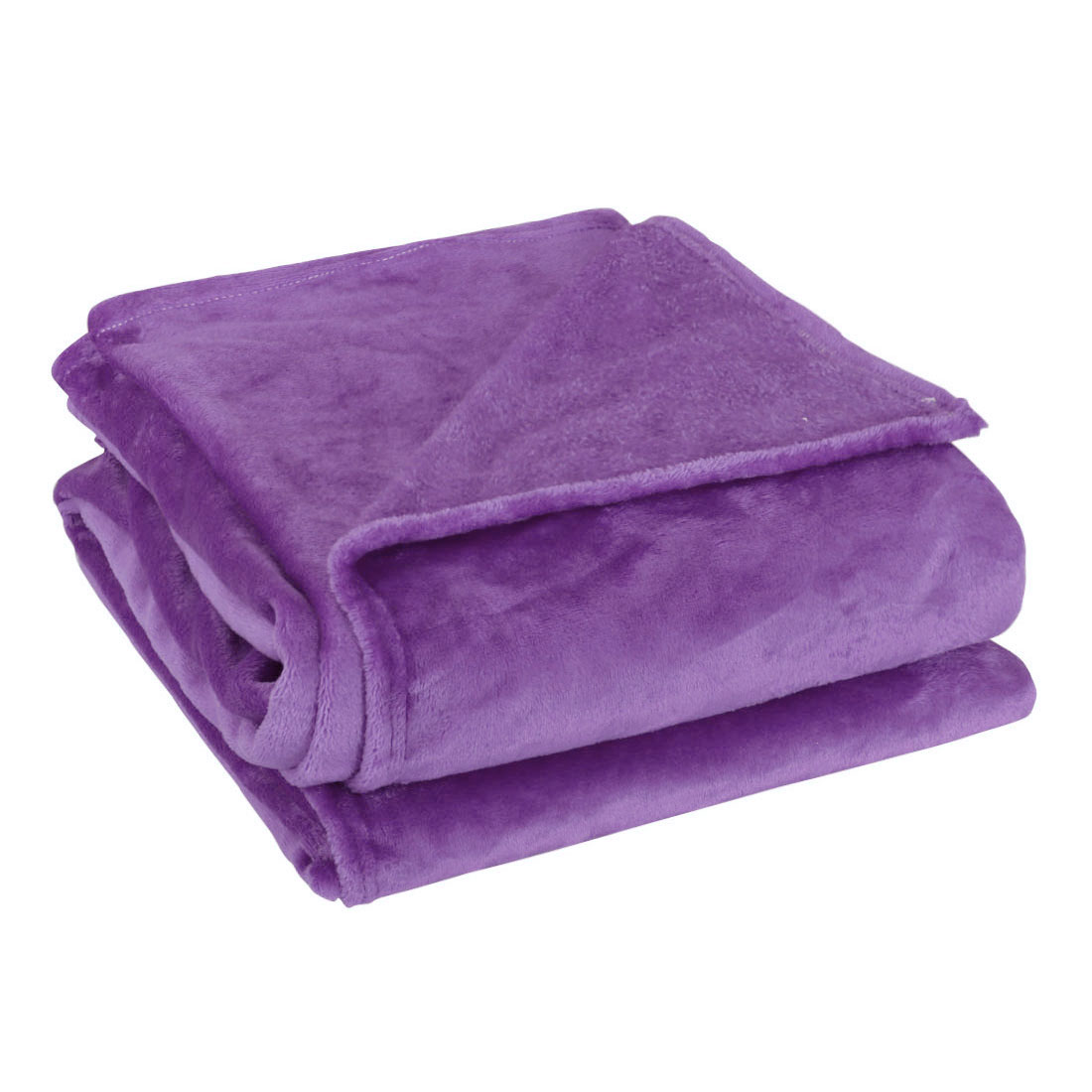 Full Size Home Bedroom Bed Sofa Warm Plush Couch Throws Blanket Soft Dark Purple 180 x 200cm