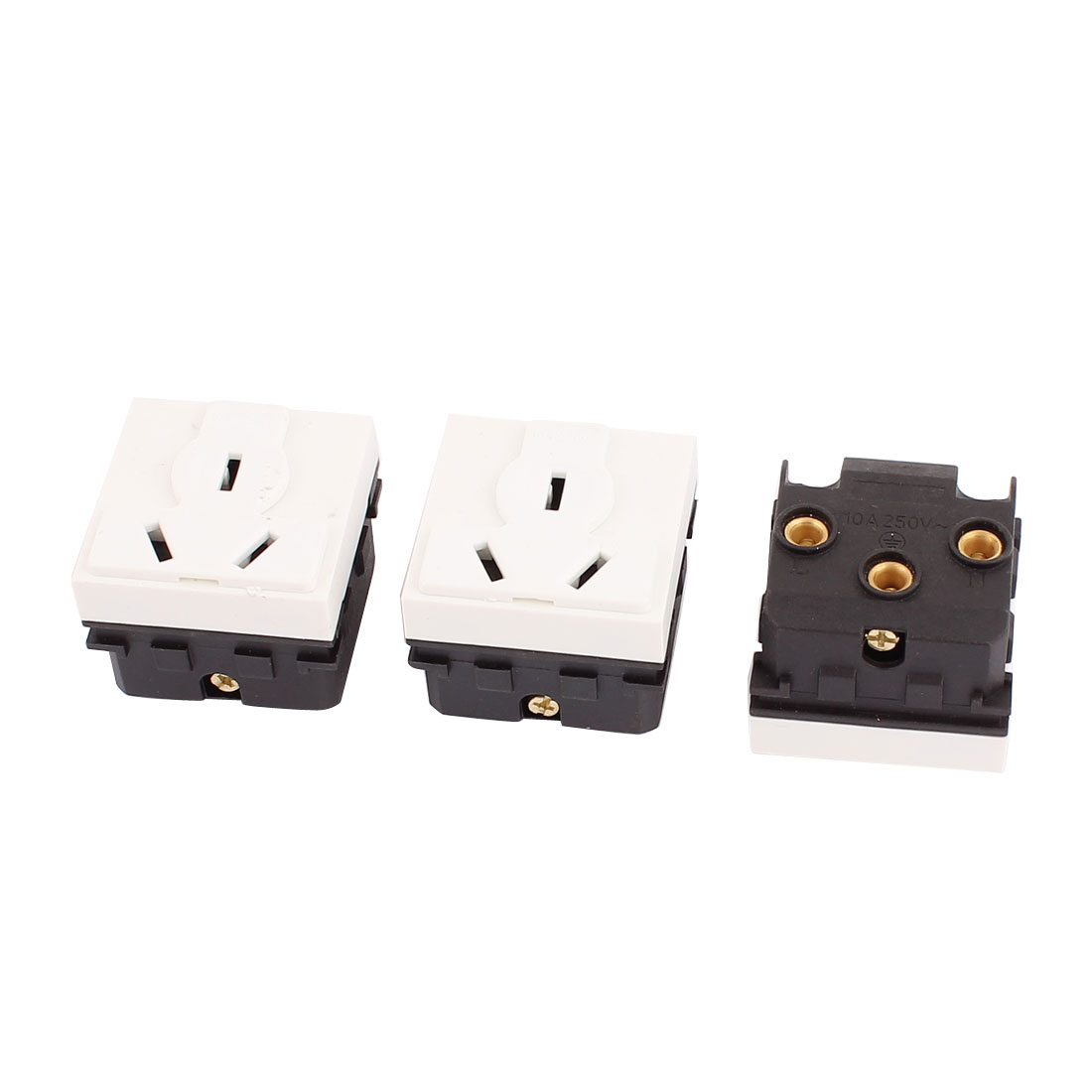 3 Pcs AC250V 10A AU Socket Electrical Modular Power Outlet for 118 Wall Plate Panel