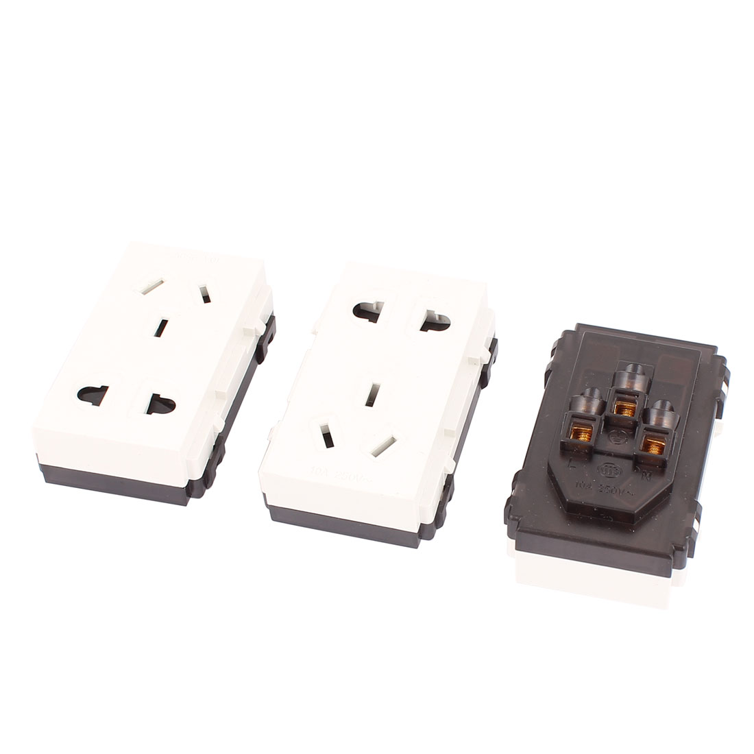 3 Pcs 250VAC 10A AU EU US Socket Electric Power Outlet for 86 Wall Plate Panel