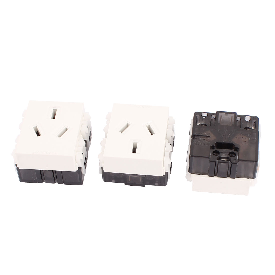 3 Pcs AC 250V 16A AU Socket Electrical Modular Power Outlet for 86 Wall Plate Panel