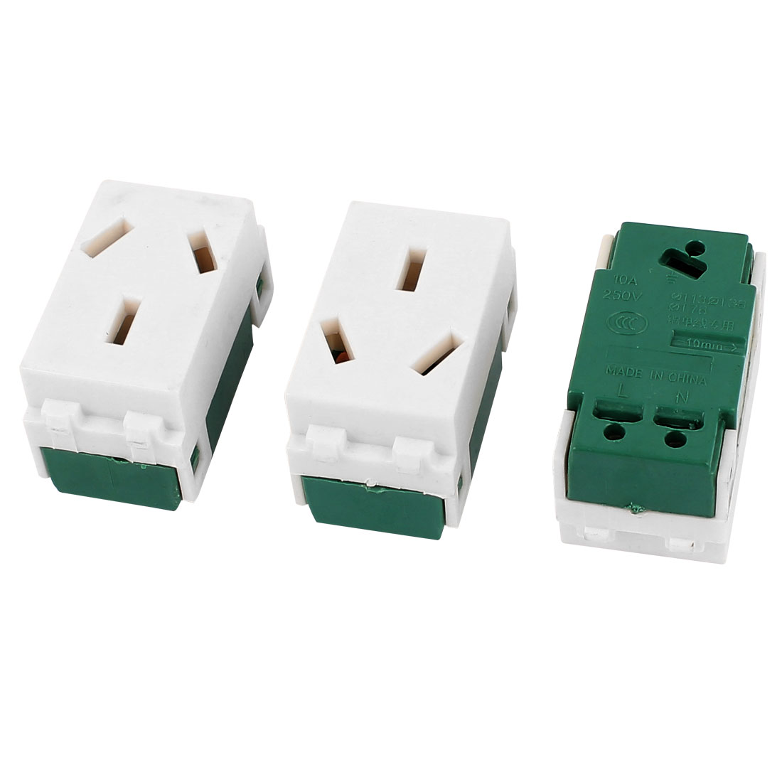3 Pcs 250VAC 10A AU Socket Electrical Modular Power Outlet for 128 Wall Plate Panel