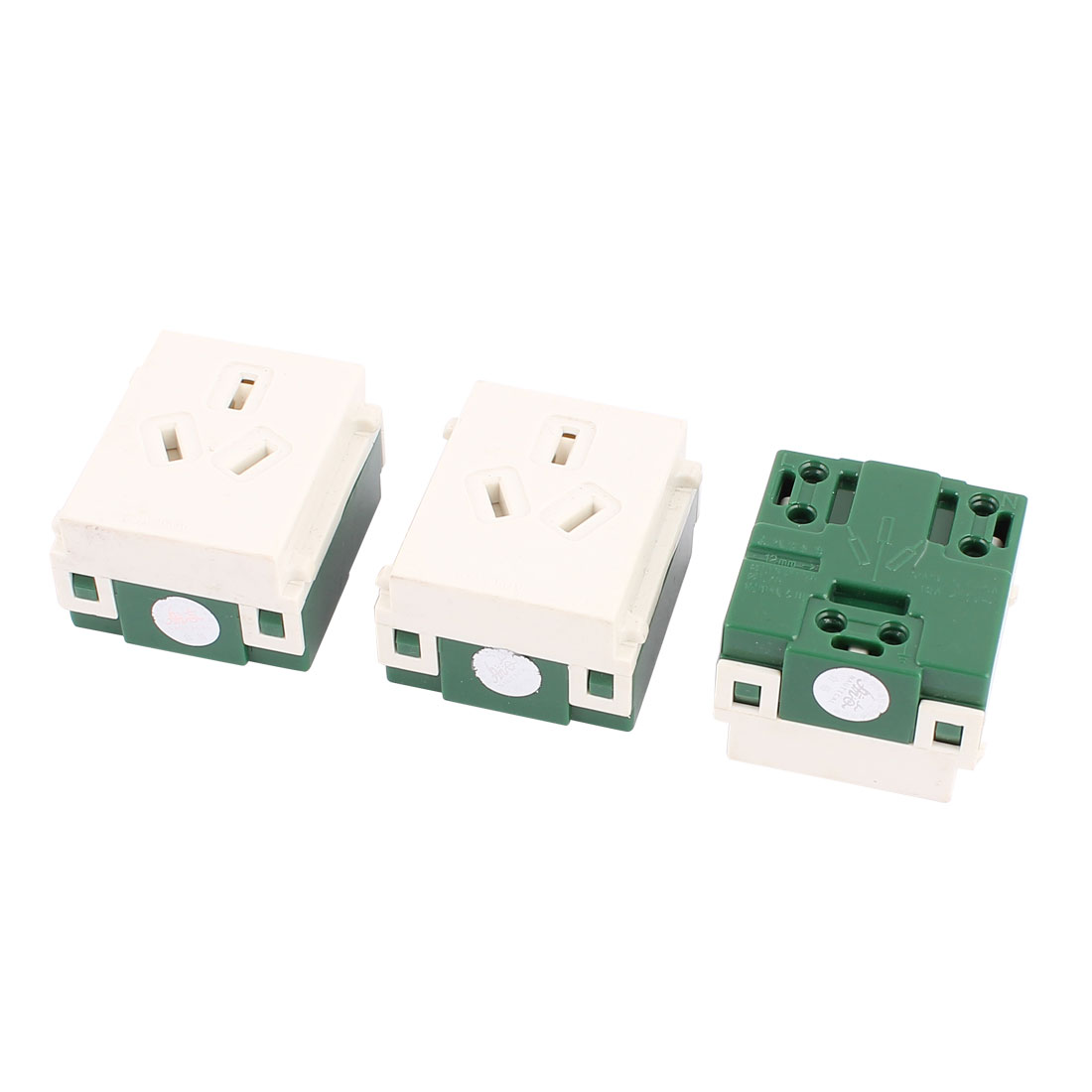 3 Pcs 250VAC 10A AU Socket Electrical Modular Power Outlet for 86 Wall Plate Panel