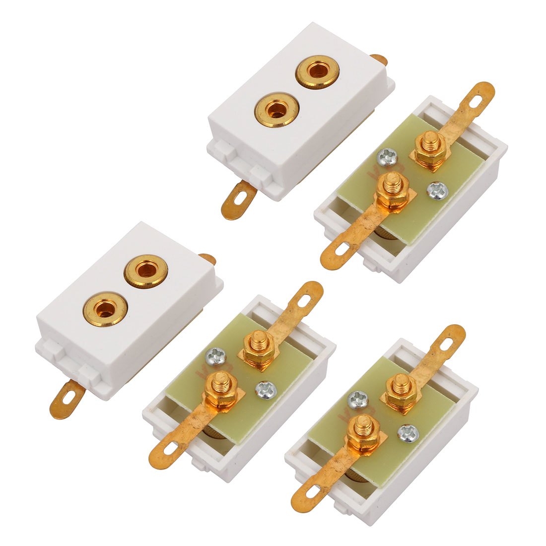 5 Pcs 128-type Binding Post Female Socket Connector for Amplifier Speaker