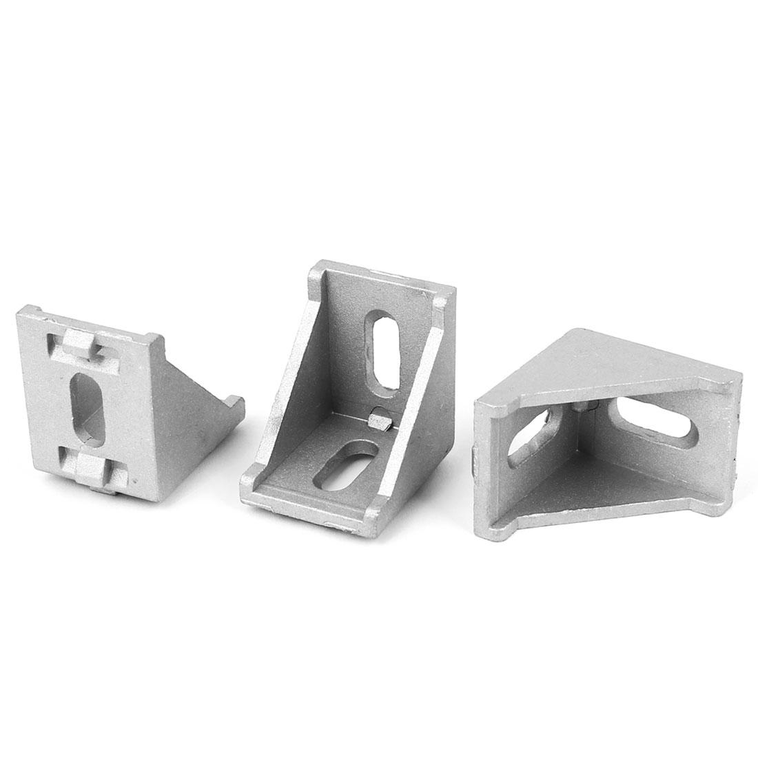 35mmx35x28mm 90 Degree Aluminum Alloy Corner Braces Angle Brackets Supports 3pcs