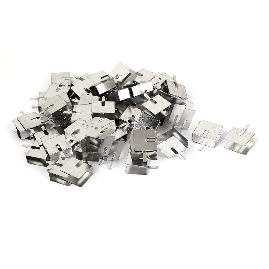 18mmx20mmx10mm PCB Mounting Steel Heat Diffuse Heatsink Cooling Fin 60pcs