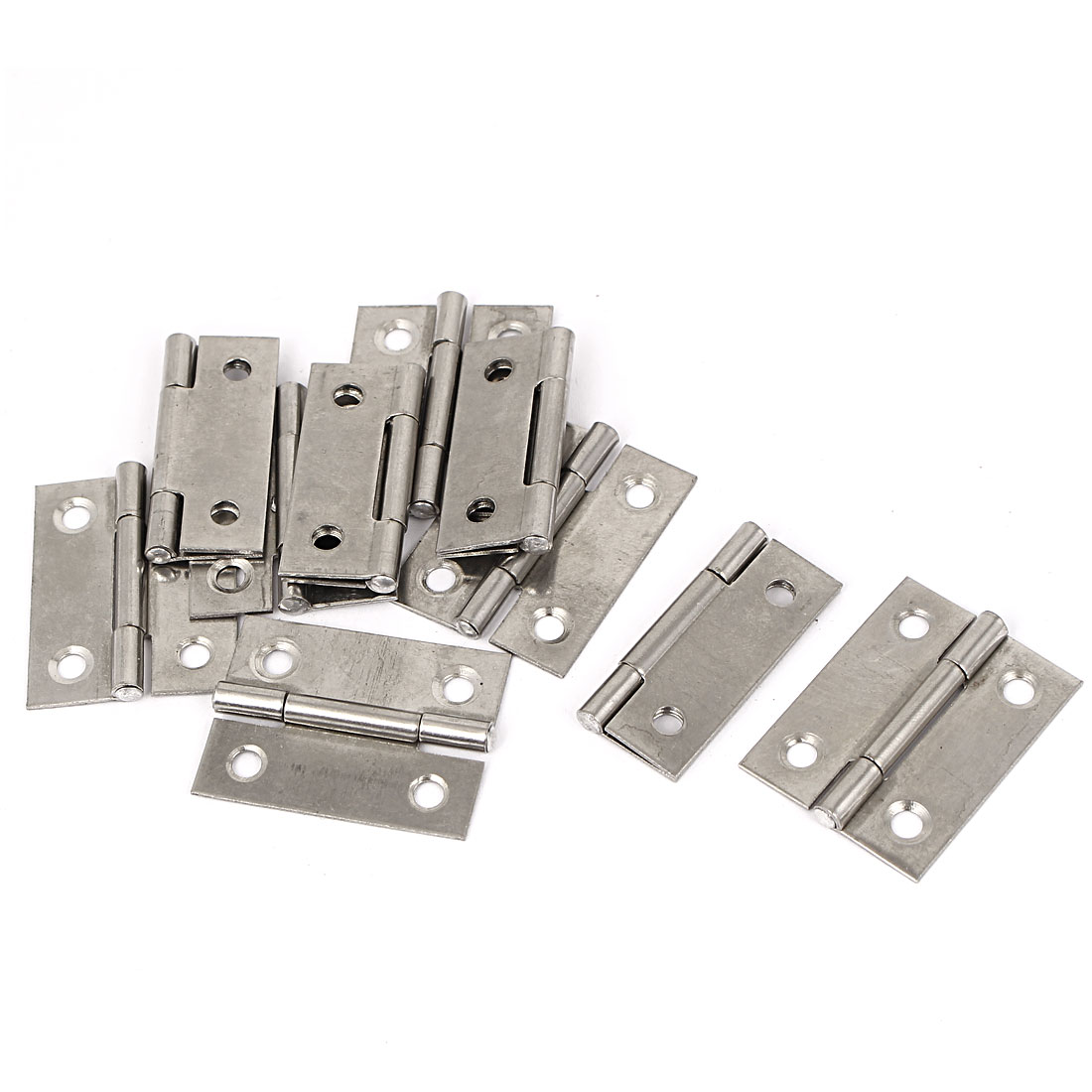 38mmx28mmx4mm Cabinet Drawer 4 Holes Screw Mounted Hinges 10pcs