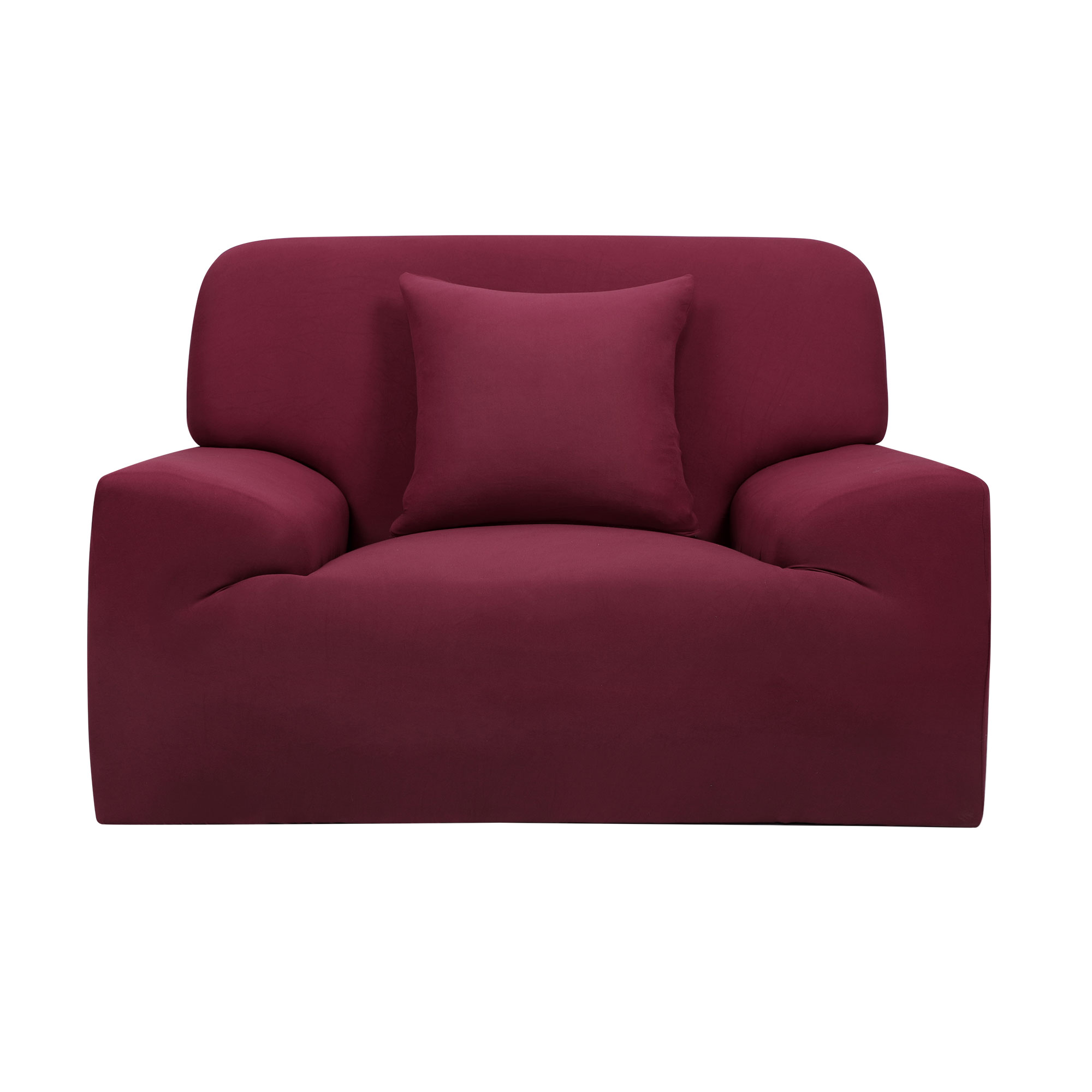 Home Chair Sofa Couch Stretch Protector Cover Slipcover Burgundy 35''-55''