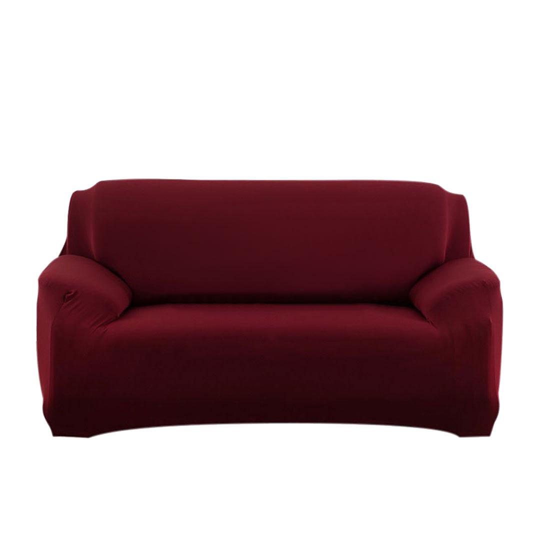 Household Sofa Loveseat Stretch Cover Slipcover Burgundy 55''-74''