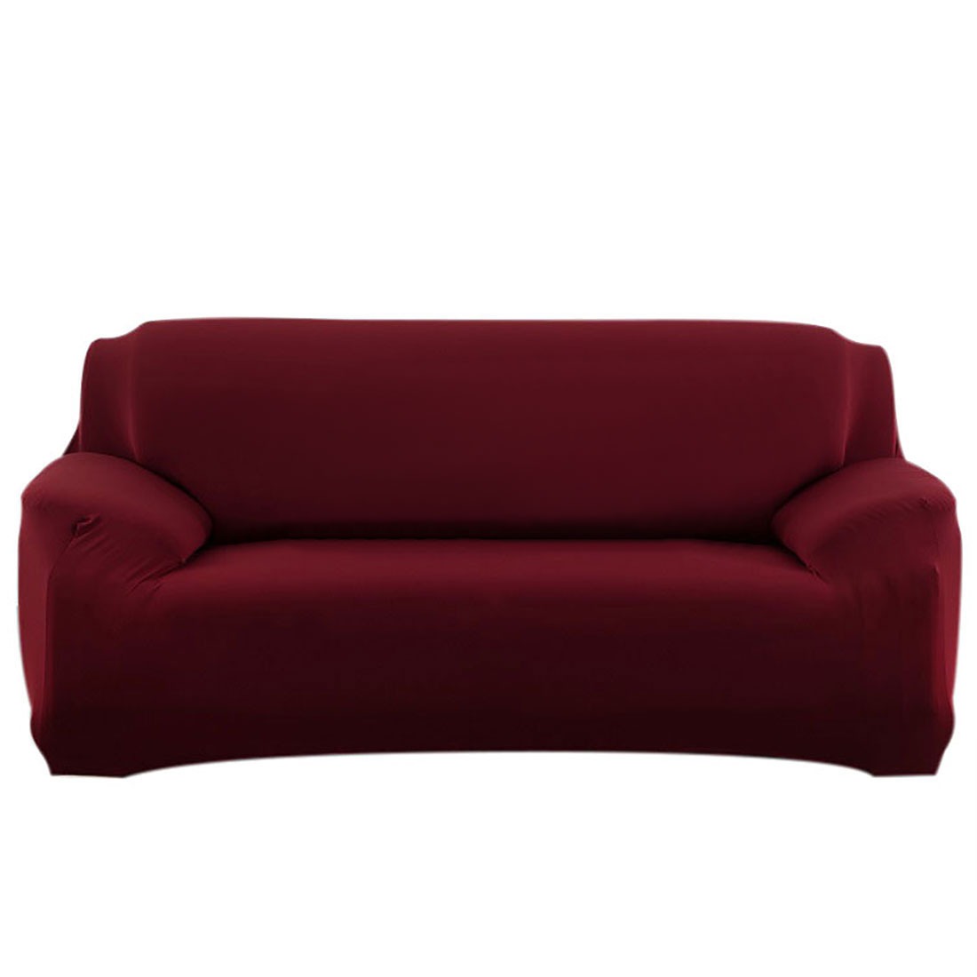 Home Furniture Sofa Couch Stretch Cover Protector Burgundy 74''-90''