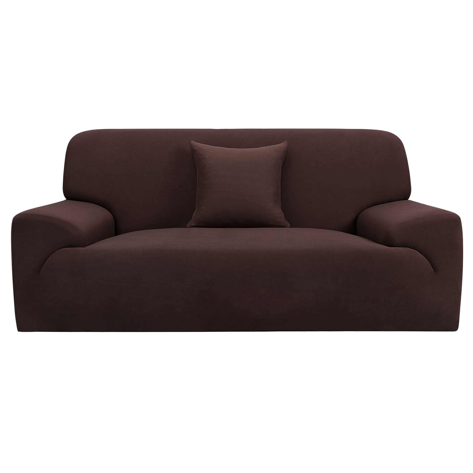 Home Sofa Couch Loveseat Stretch Cover Protector Chocolate Color 55''-74''