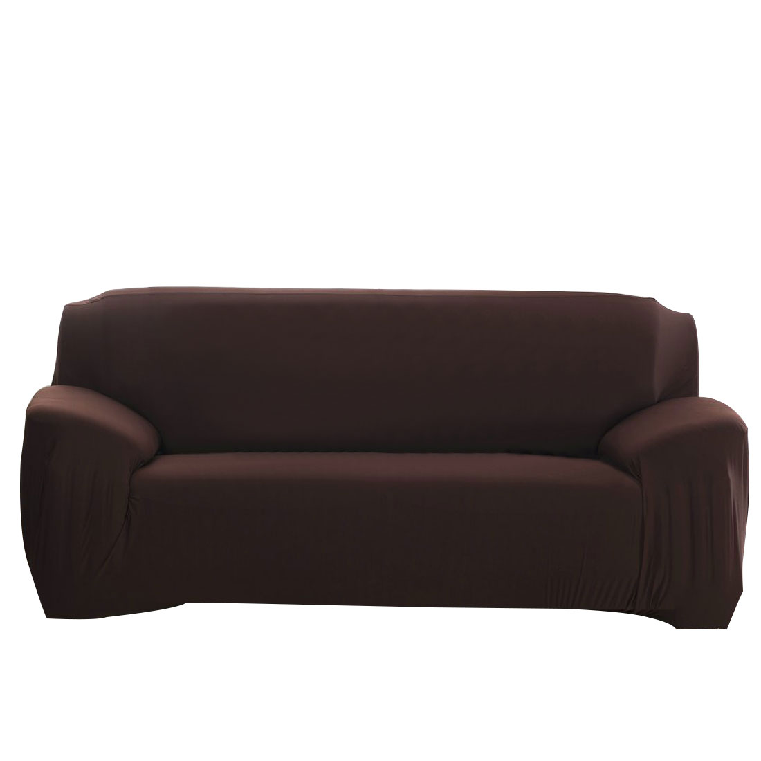 Home Sofa Couch Reversible Stretch Cover Slipcover Chocolate Color 74''-90''