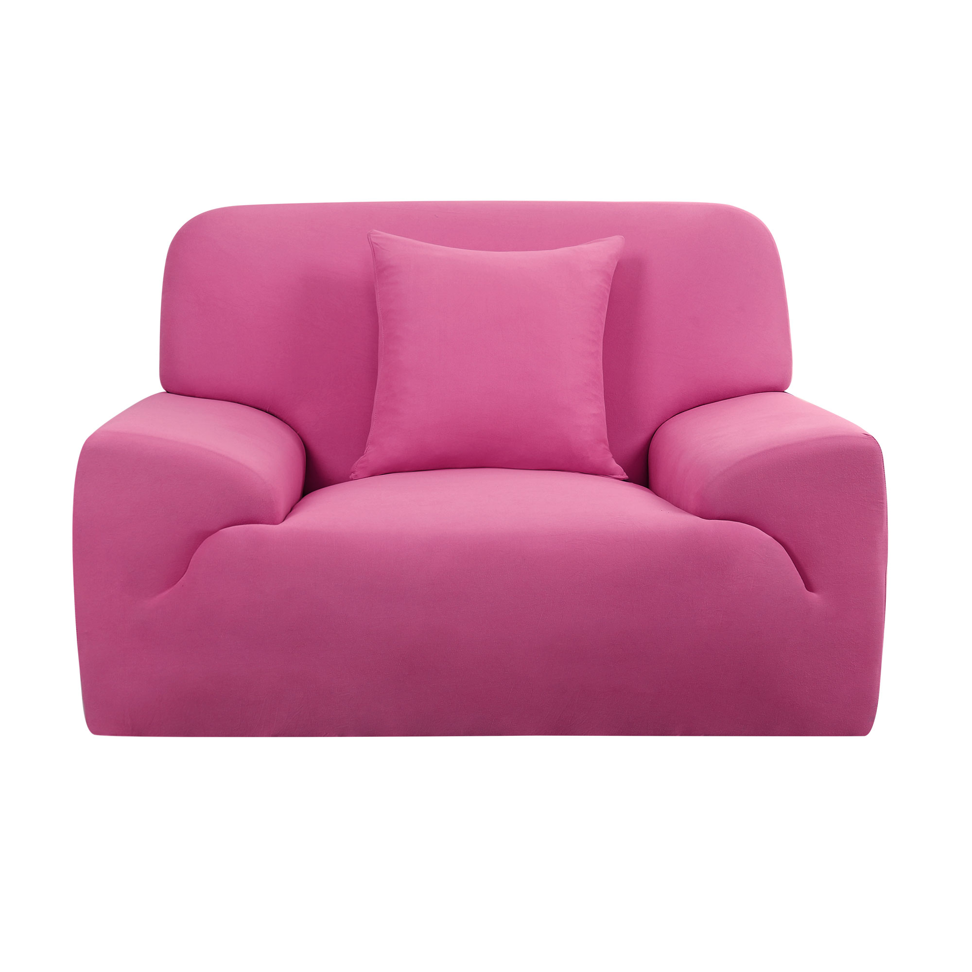 Furniture Sofa Chair Couch Elastic Stretch Cover Slipcover Fuchsia 35''-55''