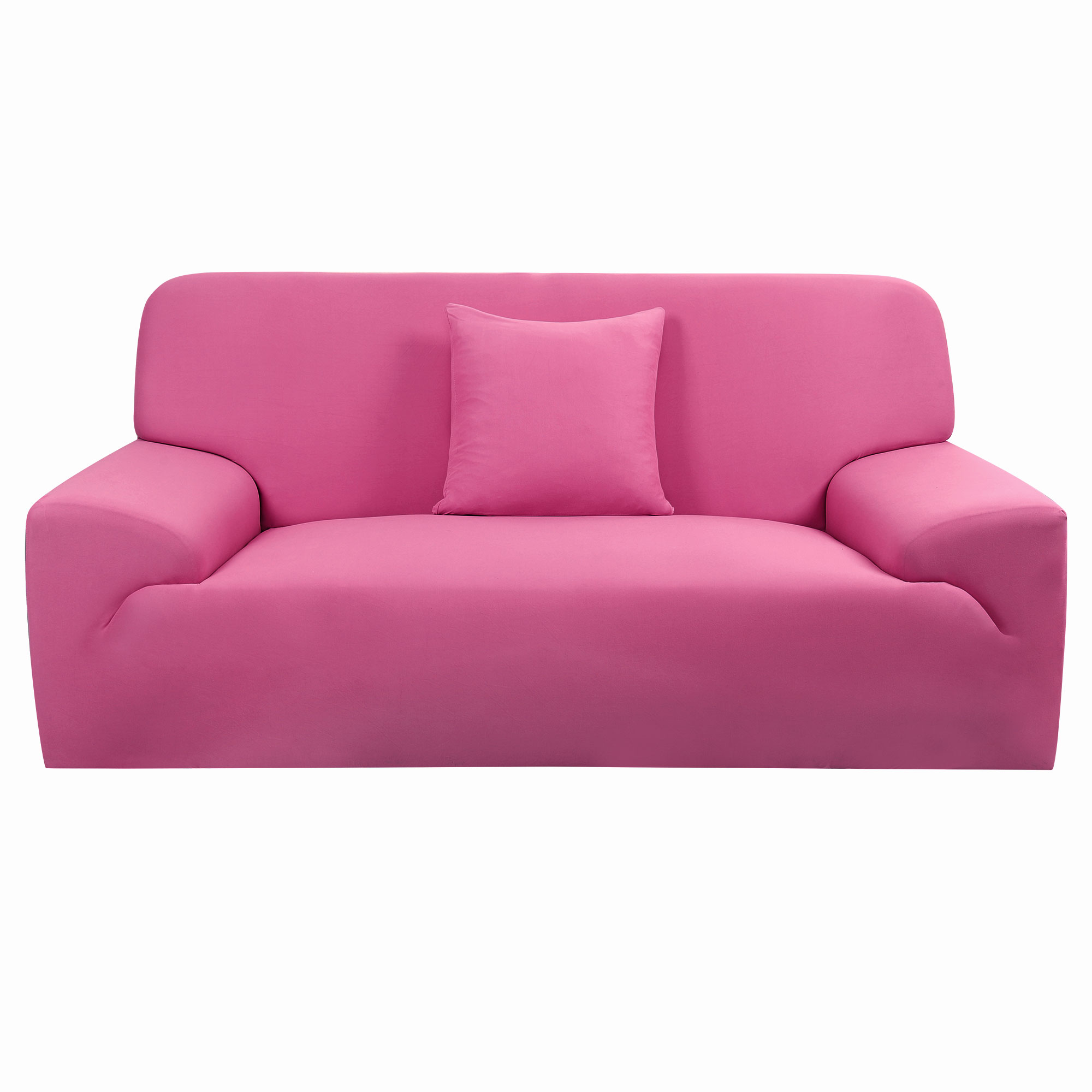 Household Sofa Loveseat Stretch Cover Slipcover Protector Fuchsia 74''-90''