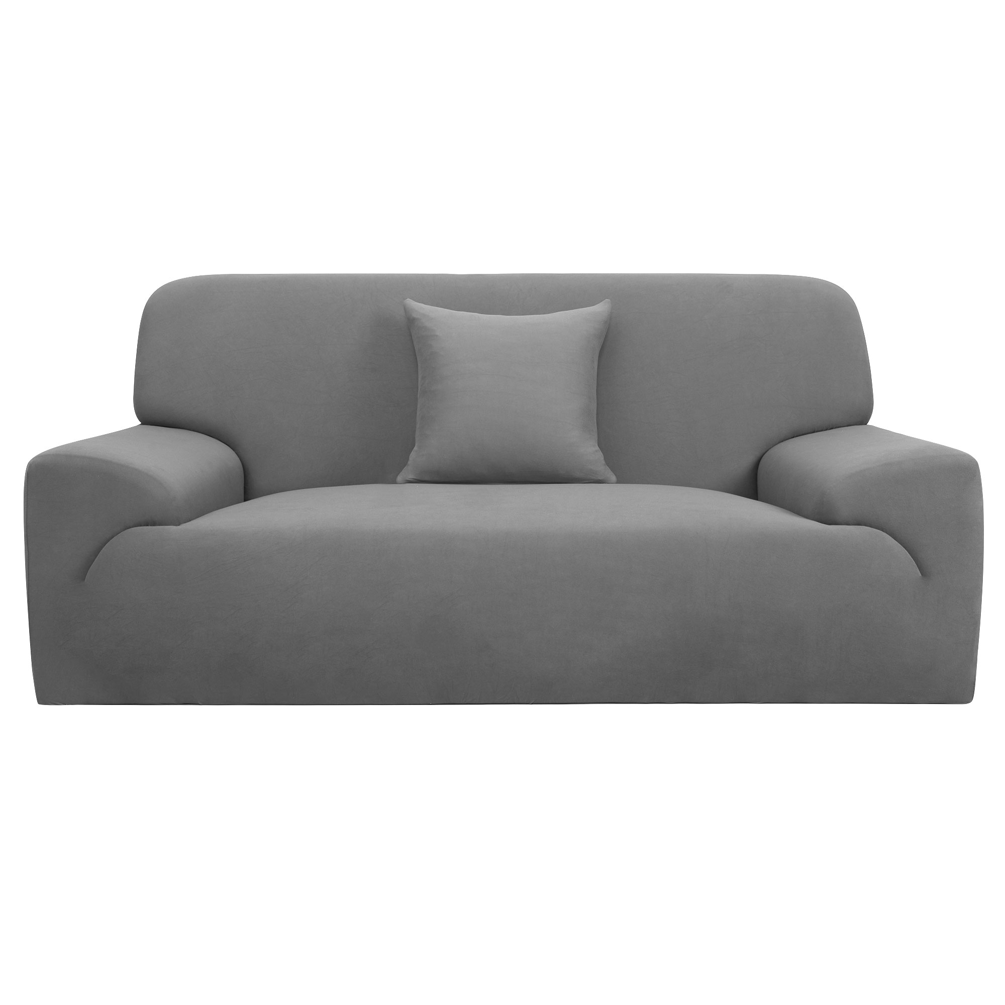 Home Furniture Loveseat Couch Stretch Cover Slipcover Protector Gray 55''-74''