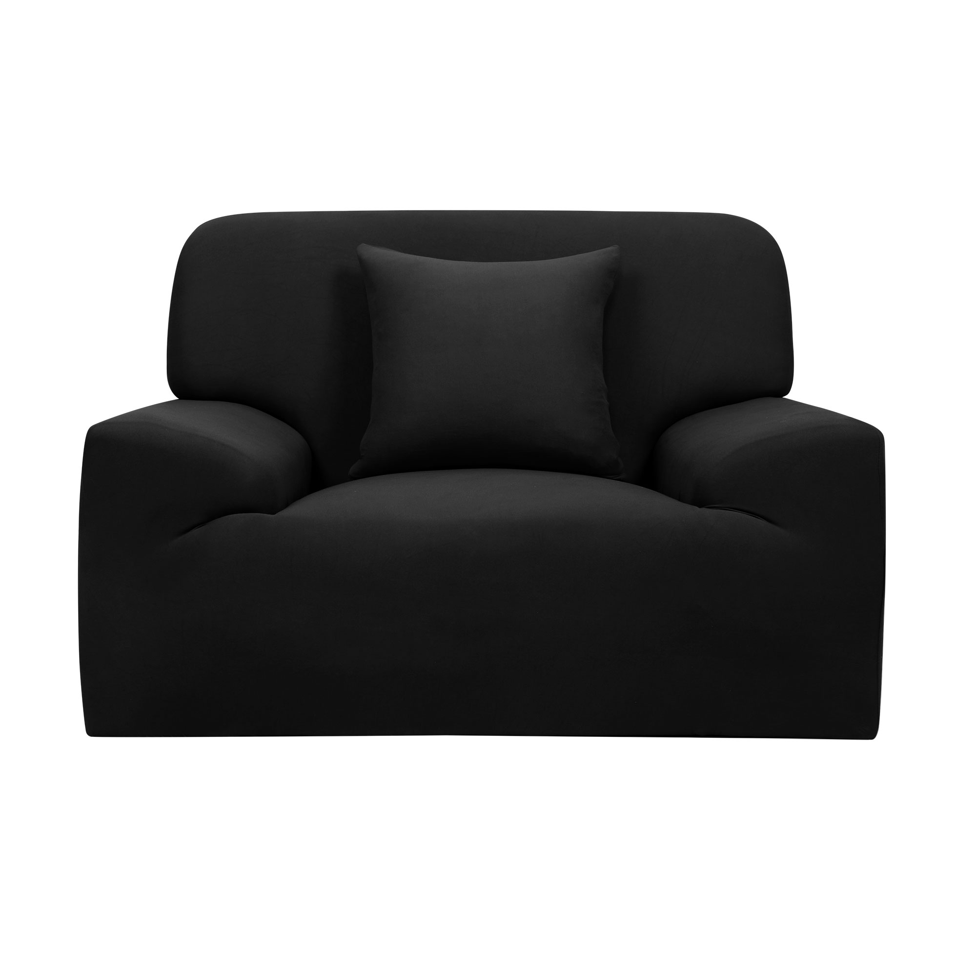 Furniture Chair Sofa Couch Stretch Protector Cover Slipcover Black 35''-55''